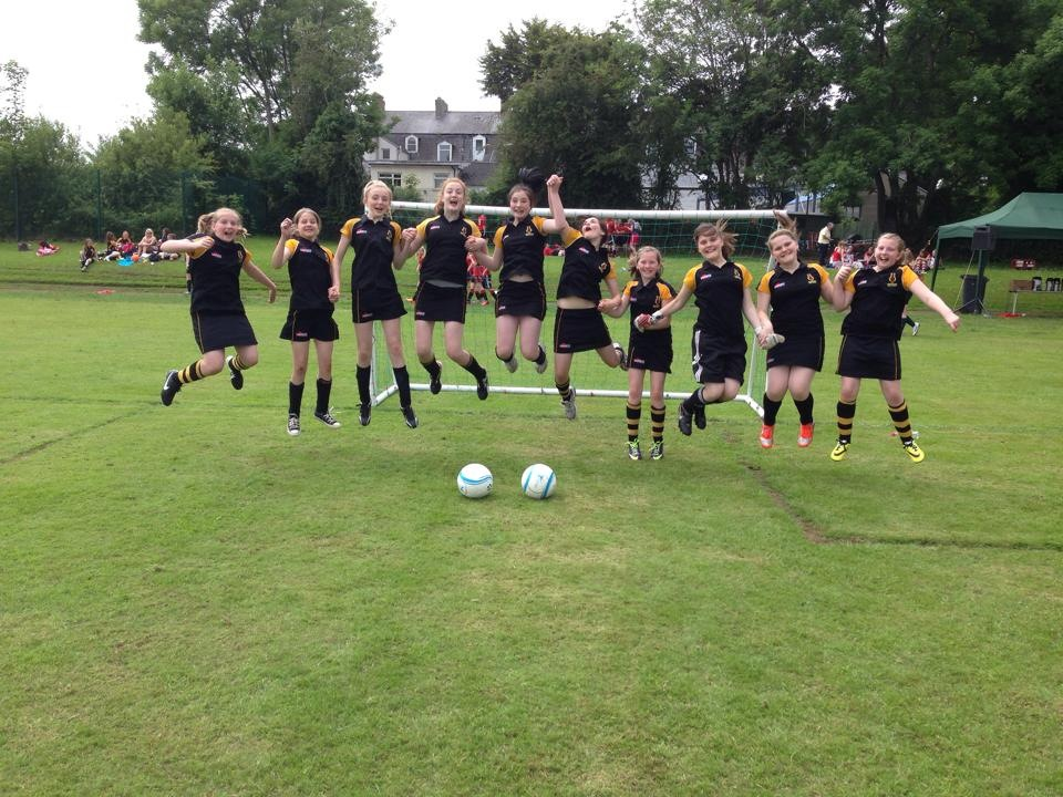 Year 9 girls jump for joy at Coleraine 7s tournament